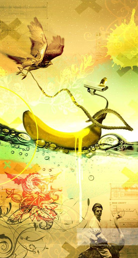old banana Art Print