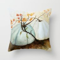 Pumpkin Patch - Watercol… Throw Pillow