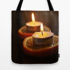 Orange Candles Tote Bag