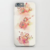 iPhone & iPod Case featuring Roses & Orchids by ChrisRIllustrations