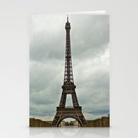 Eiffel Tower on a Cloudy Day Stationery Cards