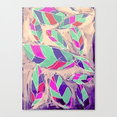 Lovely Leaves Drifting Down Canvas Print