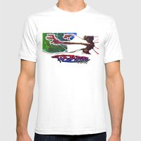 Reach Out Mens Fitted Tee White SMALL