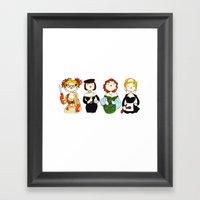 Ladies Of Clue Framed Art Print
