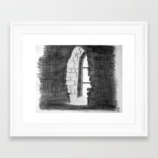Window - Drawing Framed Art Print