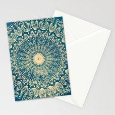 BLUE ORGANIC MANDALA Stationery Cards