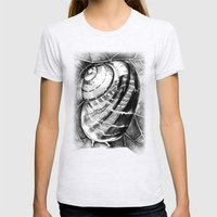 Snail Womens Fitted Tee Ash Grey SMALL