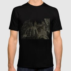 Rouen facade Mens Fitted Tee Black SMALL