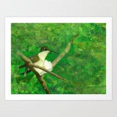 resting wings Art Print
