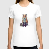 face T-shirts featuring Fox by Amy Hamilton