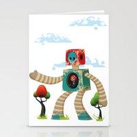 Woody Mecha Stationery Cards