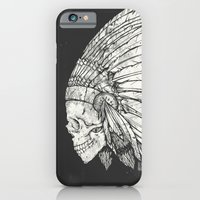 iPhone & iPod Case featuring Indian Skull by Mike Koubou