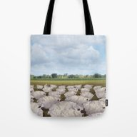 Sheep In The Field Tote Bag
