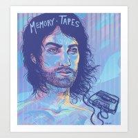 Memory Tapes Art Print