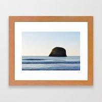 Sea sunset Framed Art Print