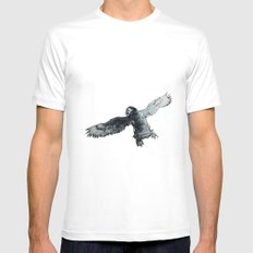 Soar the puffin SMALL Mens Fitted Tee White