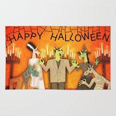 Unicorn Halloween Party  Rug