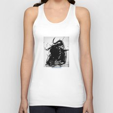 Minotaur With Coffee Unisex Tank Top