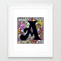 A Monogram Framed Art Print