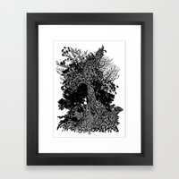 tree kids Framed Art Print