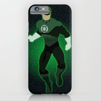 iPhone & iPod Case featuring Green Lantern by The Vector Studio