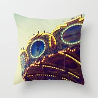 Blue Hour at the Carnival II Throw Pillow