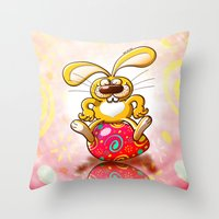 Proud Easter Bunny Throw Pillow
