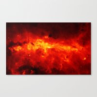 The Painted Space Lava Canvas Print