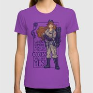 Ghostbuster Goddess Womens Fitted Tee Ultraviolet X-LARGE