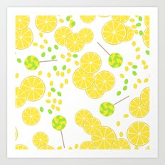 Candy . Taste of lemon. Art Print