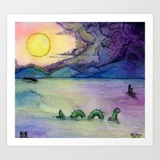A Lake Monster Morning Art Print