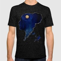 Wild Dreams  Mens Fitted Tee Tri-Black SMALL