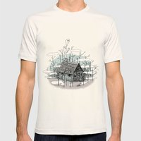DEEP IN THE HEART OF THE FOREST Mens Fitted Tee Natural SMALL