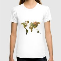 world map T-shirts featuring world map by haroulita