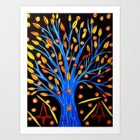 Blue Tree/abstract Art Print