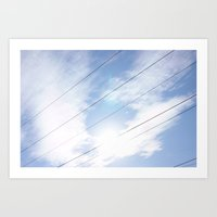 Lines In The Clouds Art Print