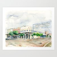 Downtown Brookhaven Art Print