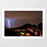 Lookout Mountain And Lig… Art Print
