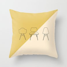 Eames Chairs Throw Pillow