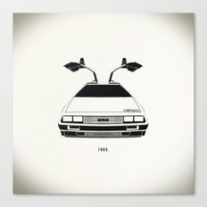 Delorean DMC 12 / Time machine / 1985 Canvas Print