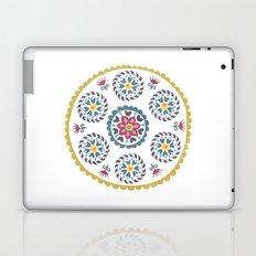 Suzani inspired floral blue 3 Laptop & iPad Skin