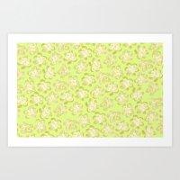 Wallflower - Butter Yell… Art Print