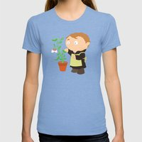 Gregor Mendel Womens Fitted Tee Tri-Blue SMALL
