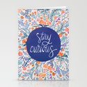 Stay Curious – Navy & Coral Stationery Cards
