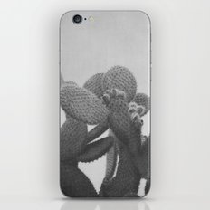 BLACK AND WHITE CACTUS iPhone & iPod Skin