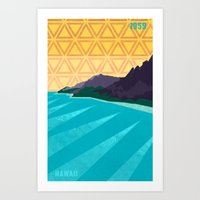 hawaii Art Prints featuring Hawaii by AtomicChild