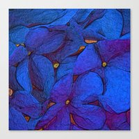 Crinkly floral blue Canvas Print