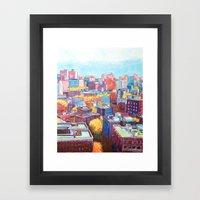 NYC Rooftops Remix Framed Art Print