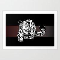 Snow Safari Art Print