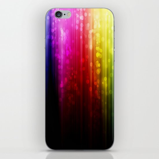 Rainbow Rain. iPhone & iPod Skin
